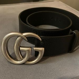 Gucci women's belt black and grey